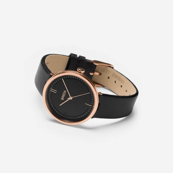 breda-agnes-1733b-rosegold-black-leather-watch-angle