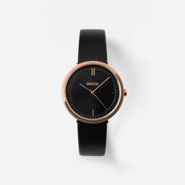 breda-agnes-1733b-rosegold-black-leather-watch-front