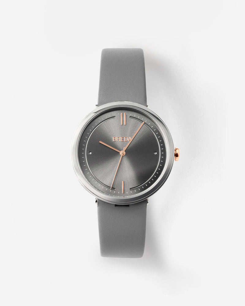 breda-agnes-1733c-silver-rosegold-gray-leather-watch-front