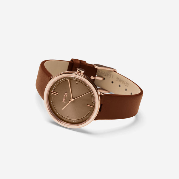 breda-agnes-1733d-rosegold-brown-leather-watch-angle