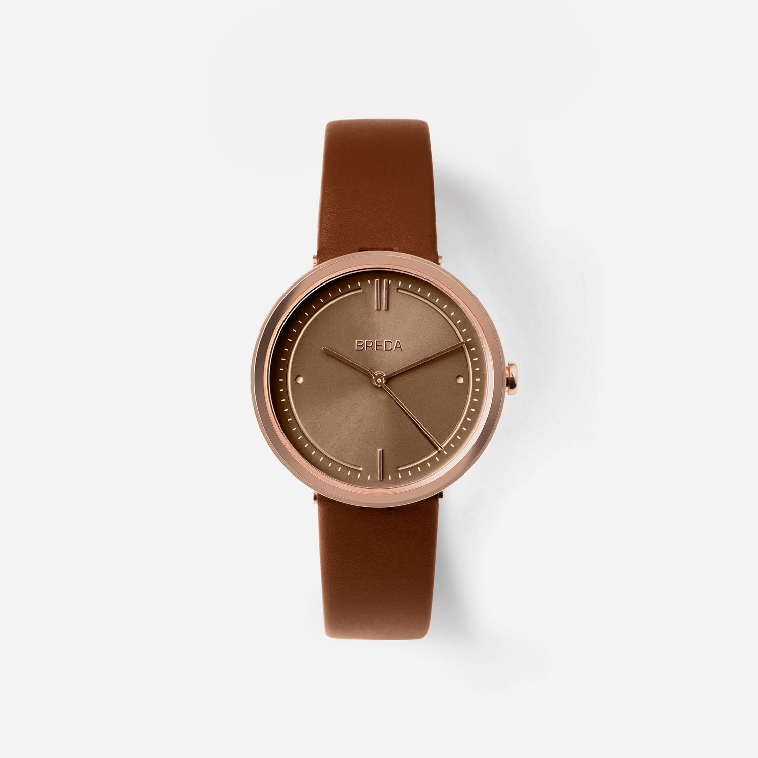 breda-agnes-1733d-rosegold-brown-leather-watch-front