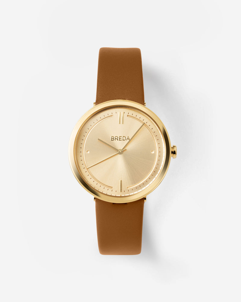 breda-agnes-1733e-gold-brown-leather-watch-front