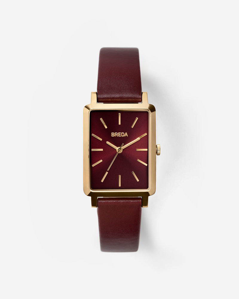 breda-baer-1729a-gold-maroon-leather-watch-front