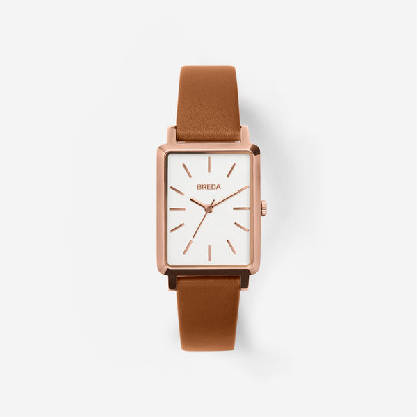 breda-baer-1729d-rosegold-brown-leather-watch-front