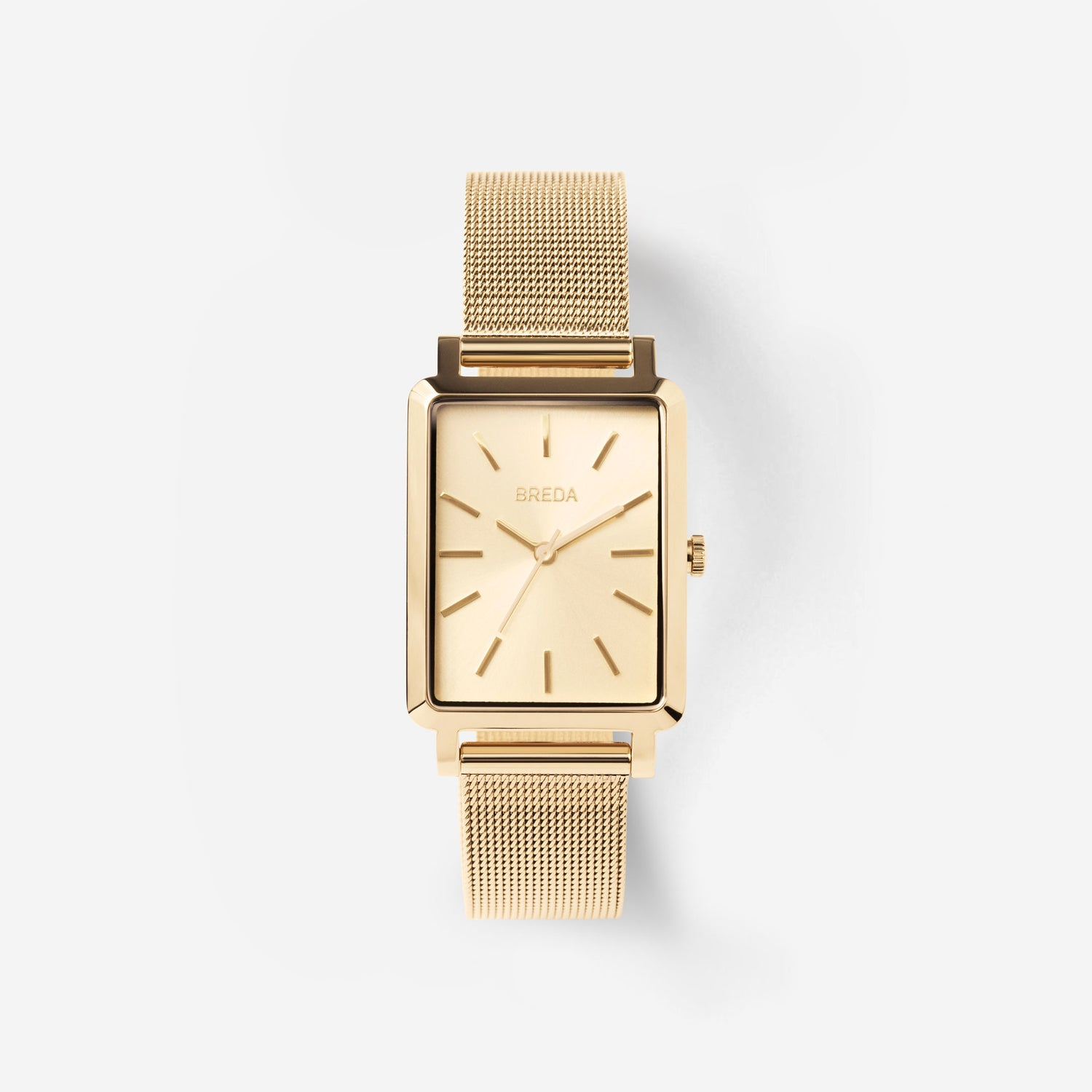 breda-baer-1729f-gold-mesh-watch-front
