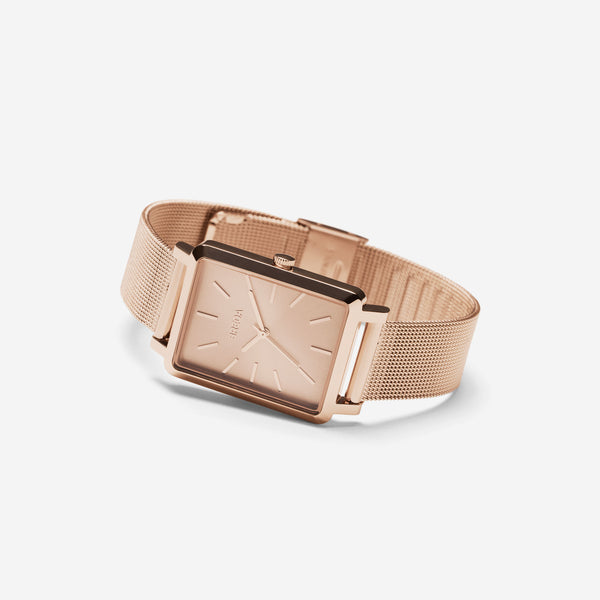 breda-baer-1729h-rose-gold-mesh-watch-angle