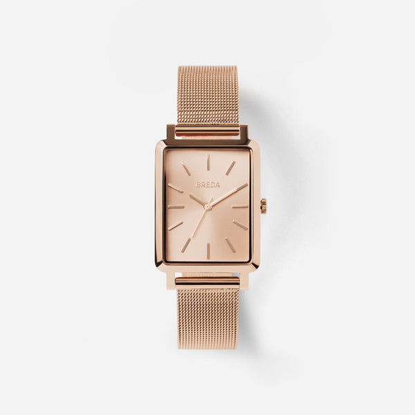breda-baer-1729h-rose-gold-mesh-watch-front