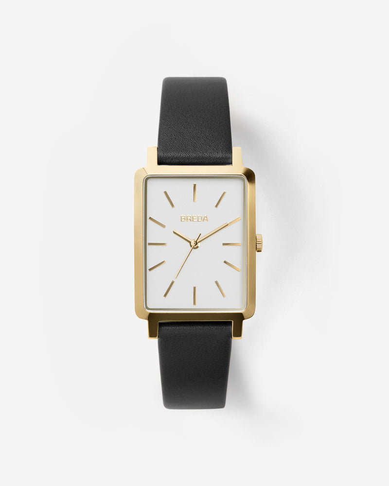 breda-baer-1729k-gold-black-leather-watch-front