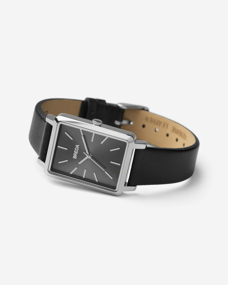 breda-baer-1729m-silver-black-leather-watch-angle