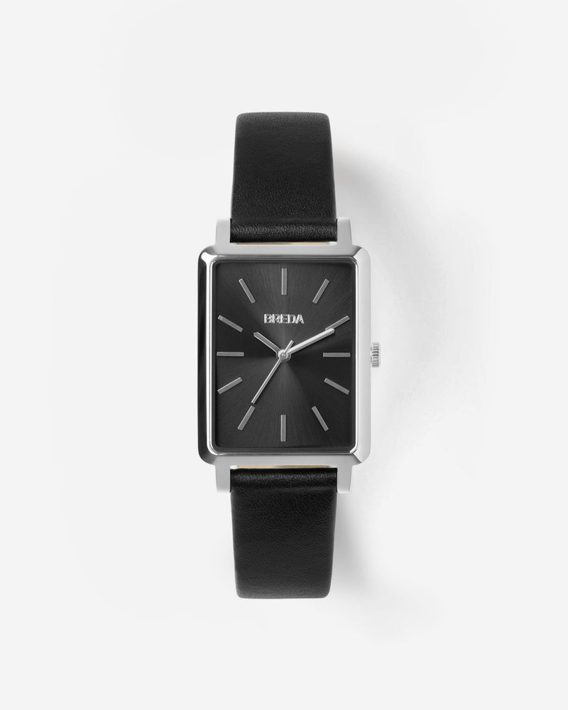 breda-baer-1729m-silver-black-leather-watch-front