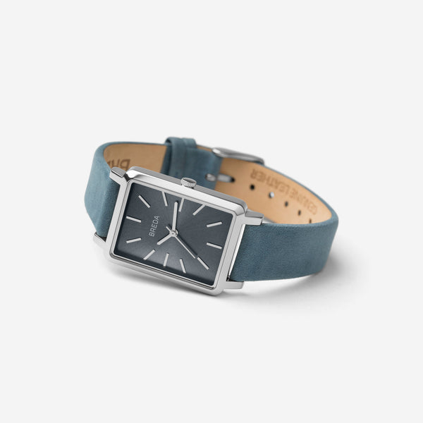 breda-baer-1729o-silver-blue-leather-watch-angle