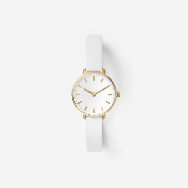 Breda Beverly 1730d Gold White Leather Watch Front ...