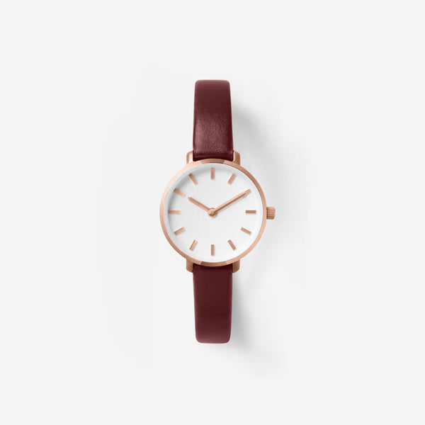 breda-beverly-1730e-rosegold-maroon-leather-watch-front