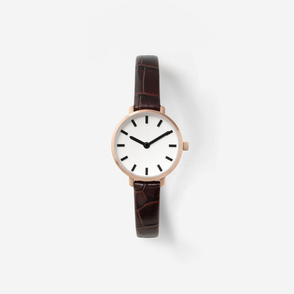 breda-beverly-1730g-rosegold-brown-croc-leather-watch-front