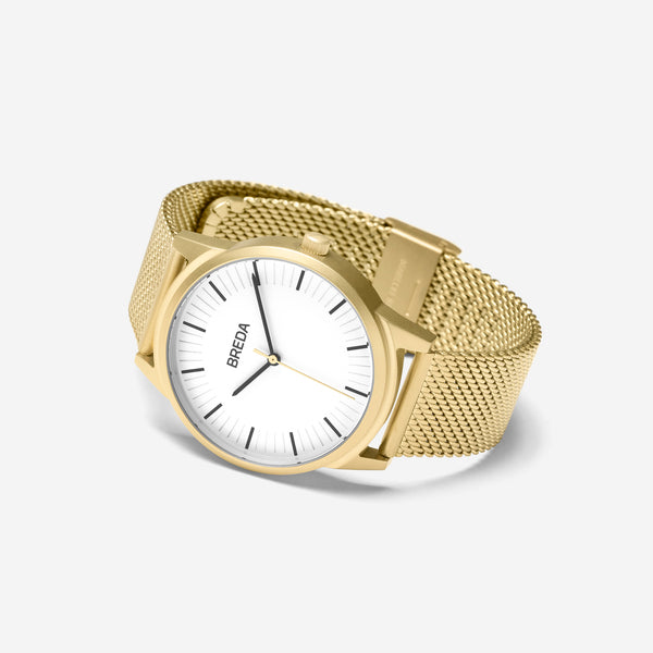 breda-bresson-5020g-gold-mesh-watch-angle
