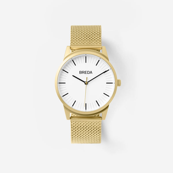 breda-bresson-5020g-gold-mesh-watch-front
