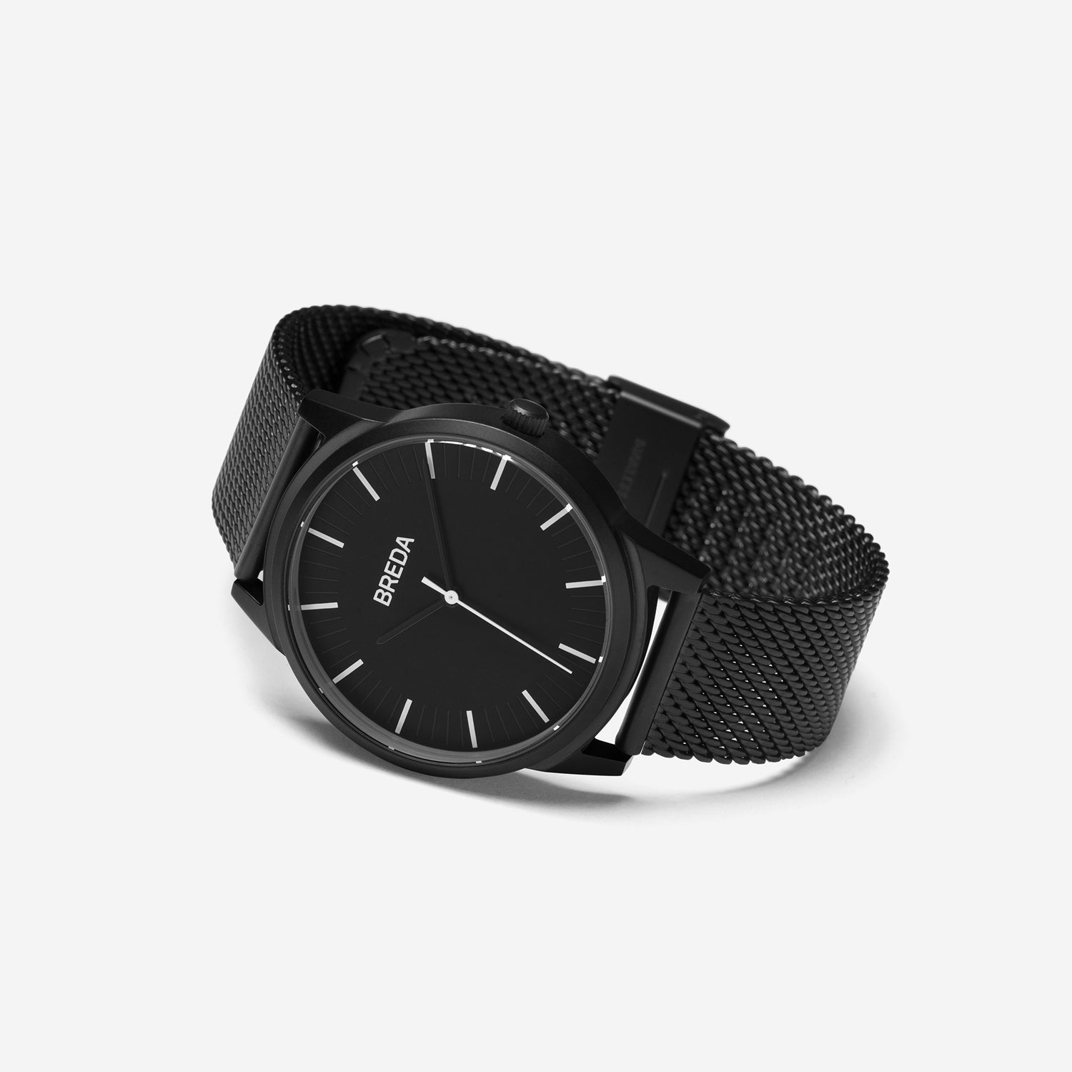 breda-bresson-5020h-black-mesh-watch-angle