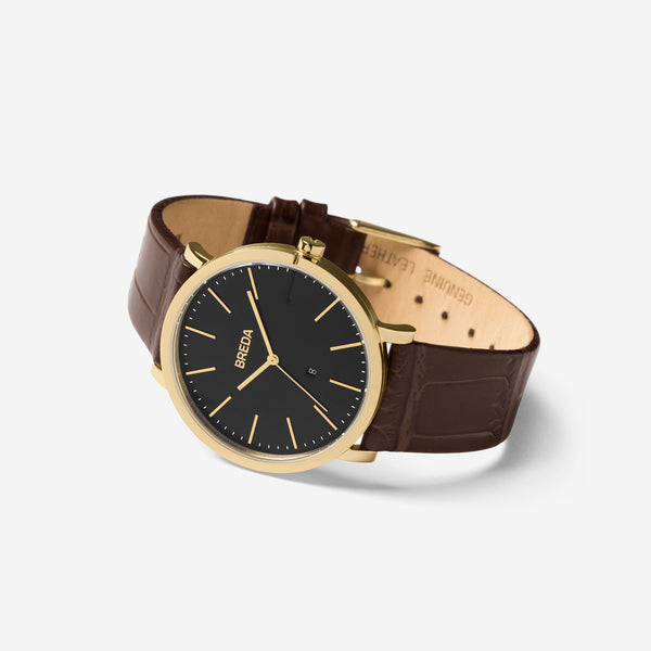 breda-breuer-1732b-gold-brown-leather-watch-angle