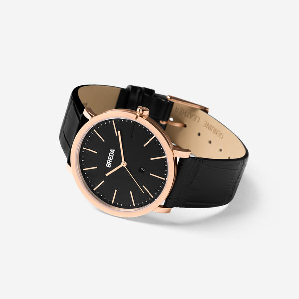 breda-breuer-1732e-rose-gold-black-leather-watch-angle