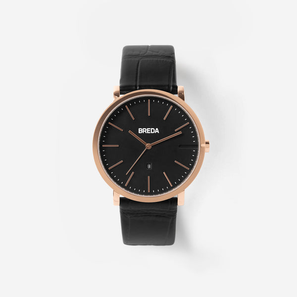 breda-breuer-1732e-rose-gold-black-leather-watch-front