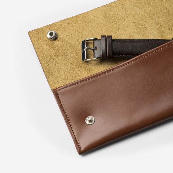 J1014 - Brown Leather Travel Pouch
