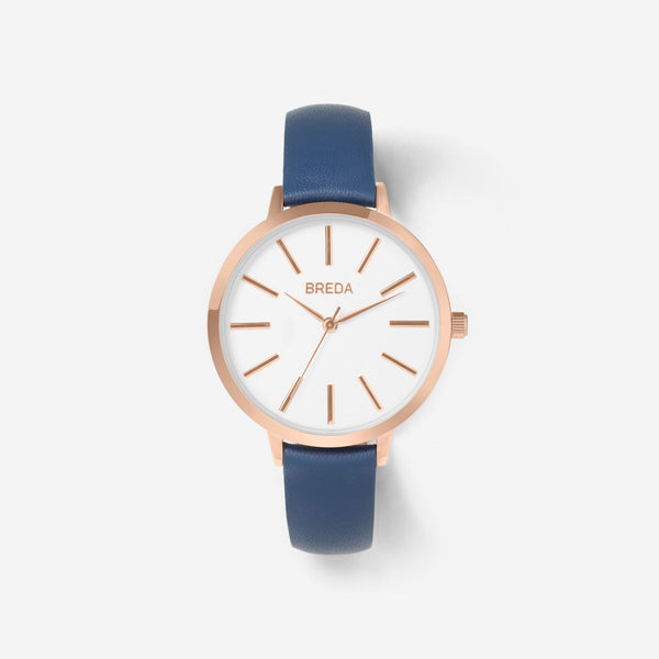 BREDA-Joule-1722j-Rose-Gold-Navy-Watch-Front