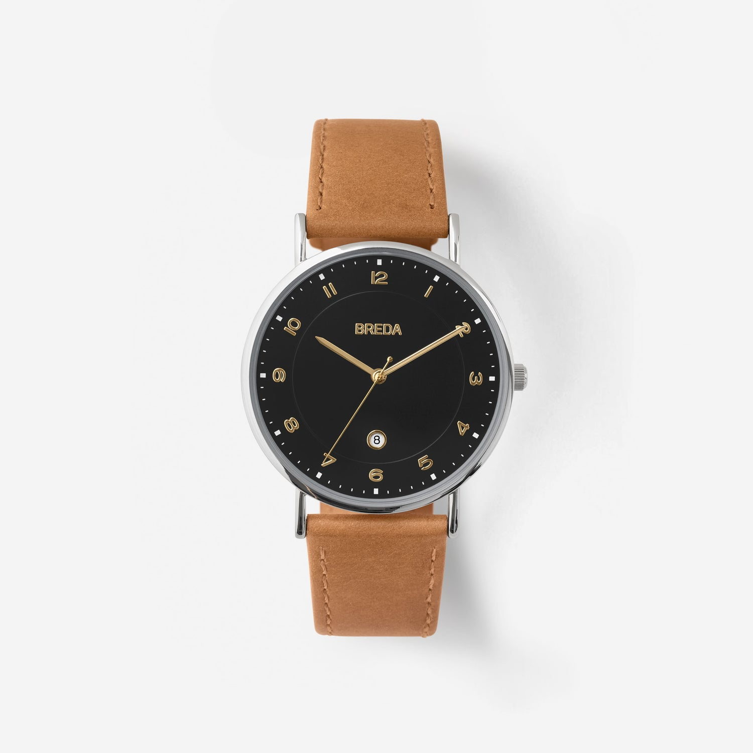 breda-pei-1739b-silver-brown-leather-watch-front
