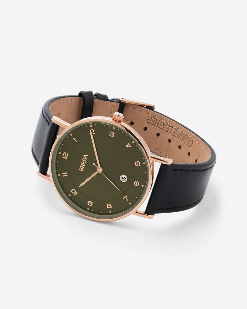 breda-pei-1739d-rosegold-black-leather-watch-angle