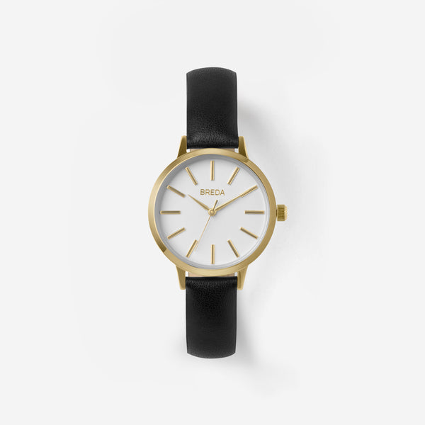 breda-petite-joule-1734a-gold-black-watch-front