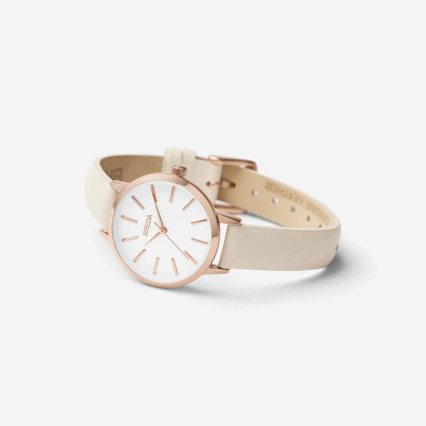 breda-petite-joule-1734c-rose-gold-cream-watch-angle
