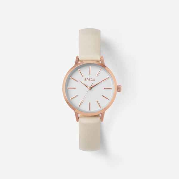 breda-petite-joule-1734c-rose-gold-cream-watch-front