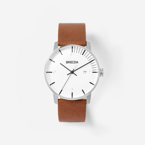 breda-phase-9000a-silver-brown-watch-front