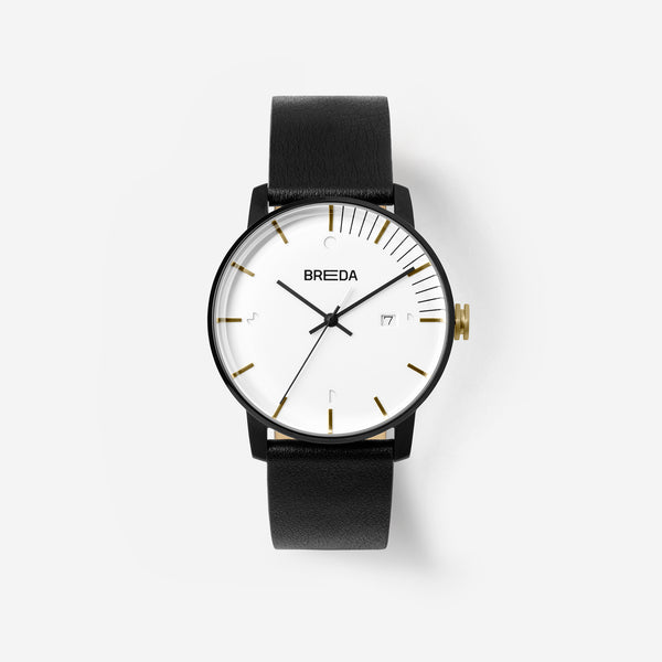 breda-phase-9000b-two-tone-gold-black-black-watch-front