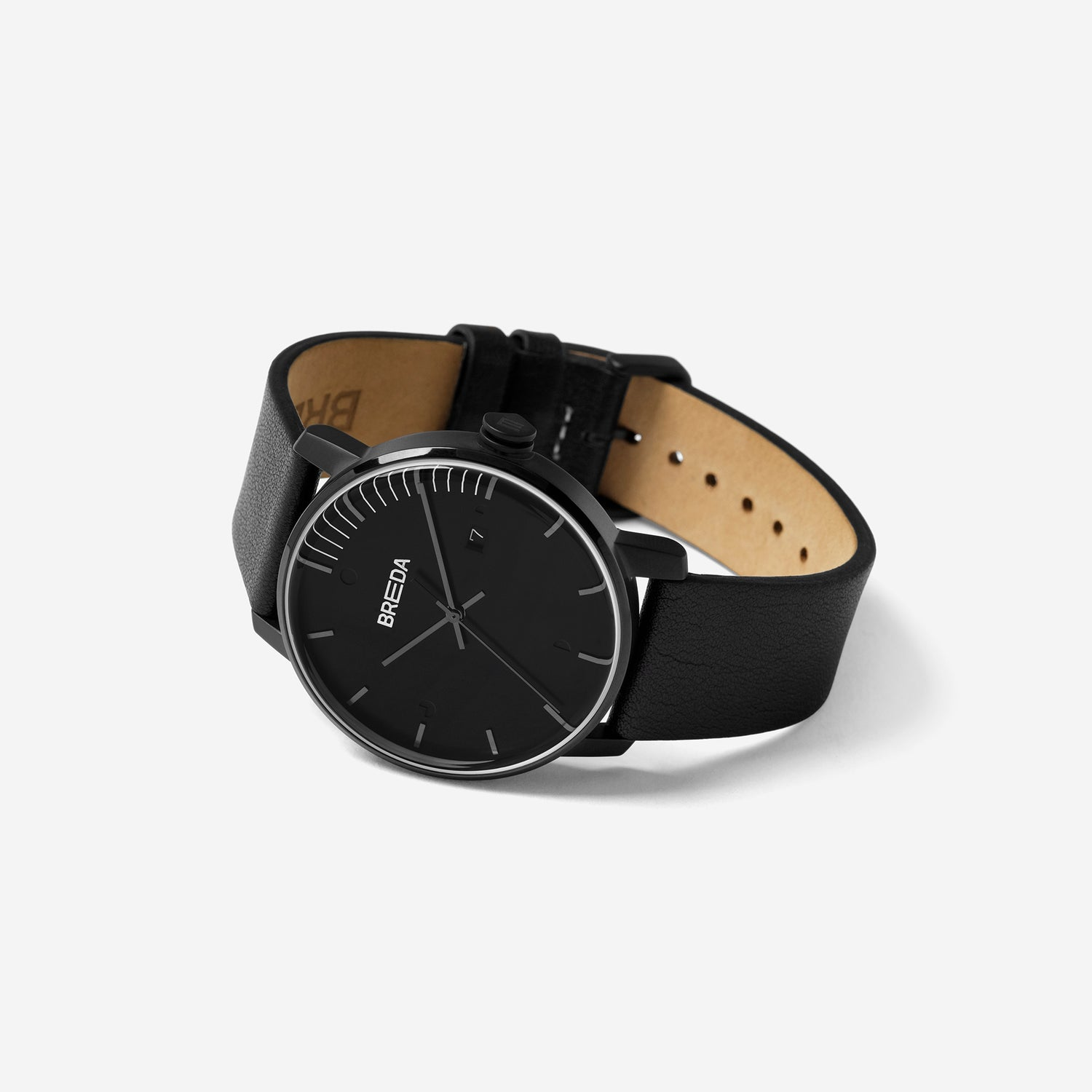 Phase   Italian Leather Watch   Minimal Dial Watches   BREDA Watch