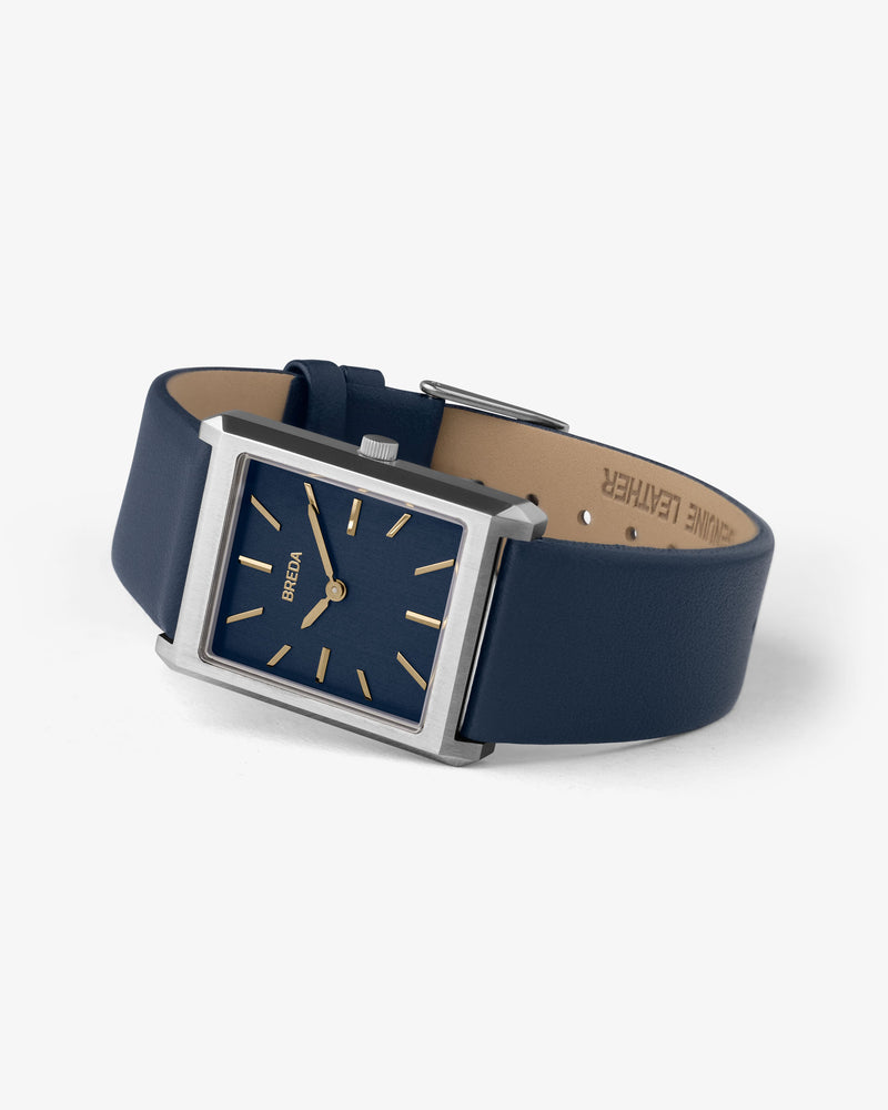 breda-virgil-1736e-silver-navy-leather-watch-angle
