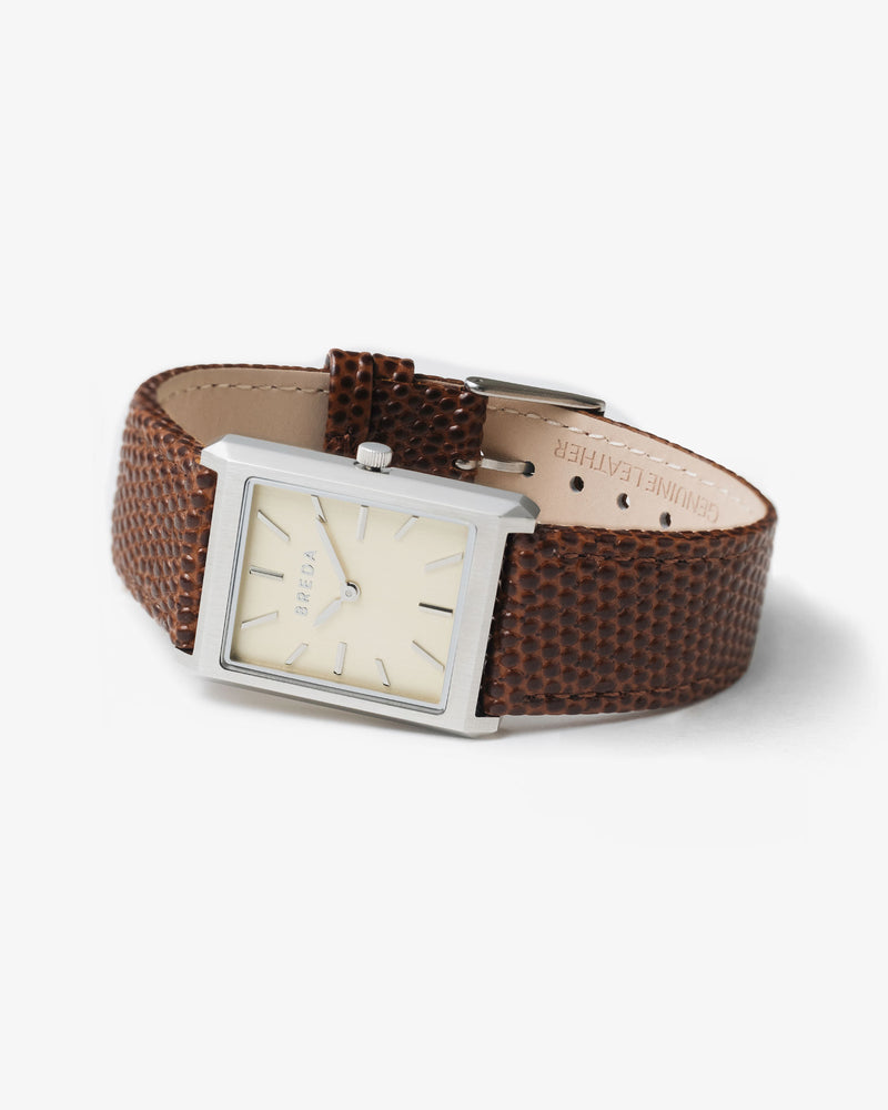 breda-virgil-lizard-1736g-silver-brown-leather-watch-angle