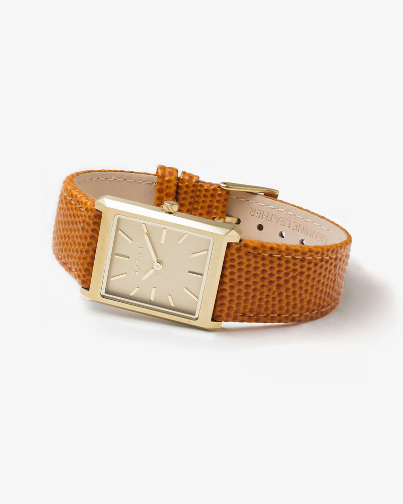 breda-virgil-lizard-1736h-gold-brown-leather-watch-angle