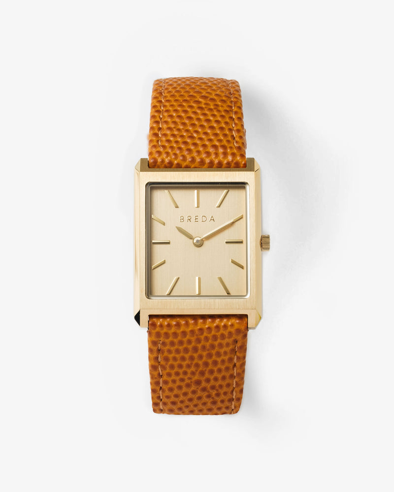 breda-virgil-lizard-1736h-gold-brown-leather-watch-front