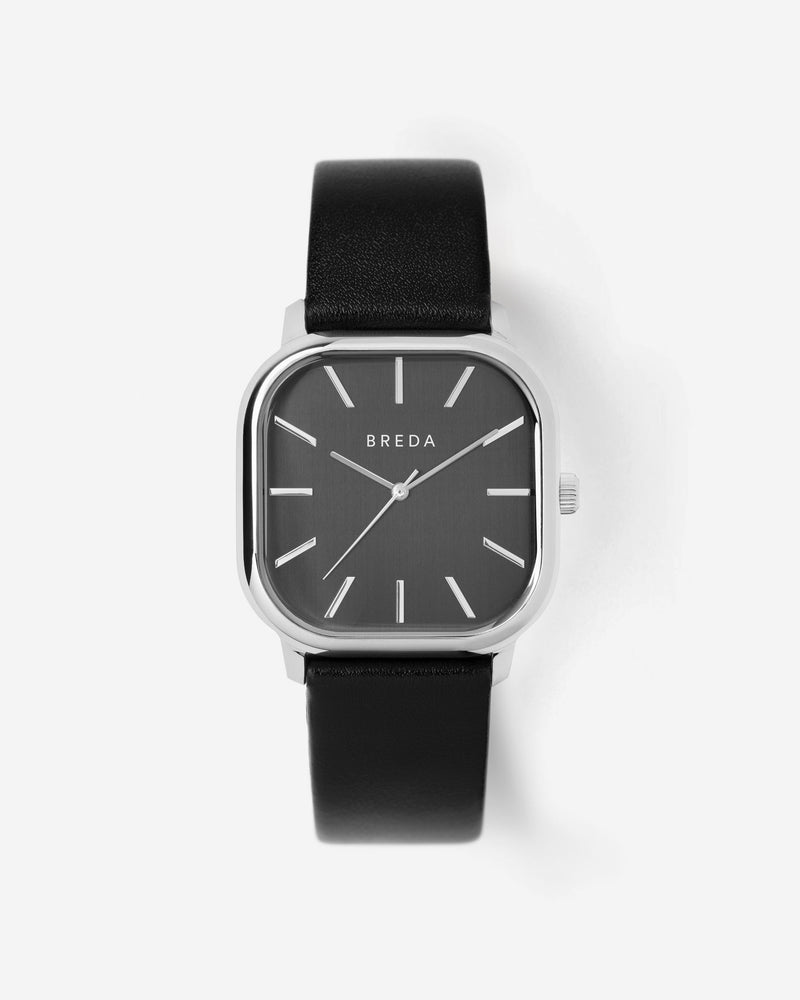 breda-visser-1728a-silver-black-leather-watch-front