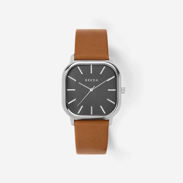 breda-visser-1728b-silver-brown-leather-watch-front