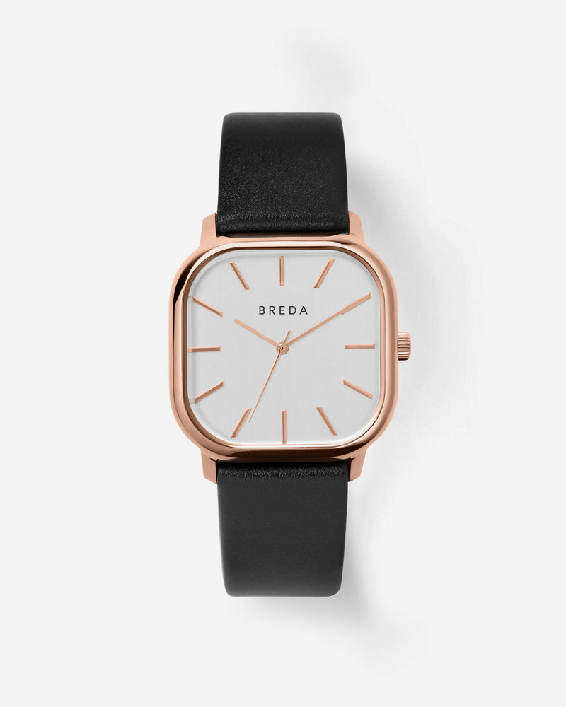 breda-visser-1728e-rosegold-black-leather-watch-front