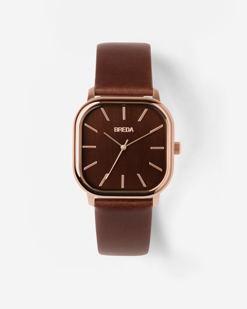 breda-visser-1728f-rose-gold-brown-leather-watch-front
