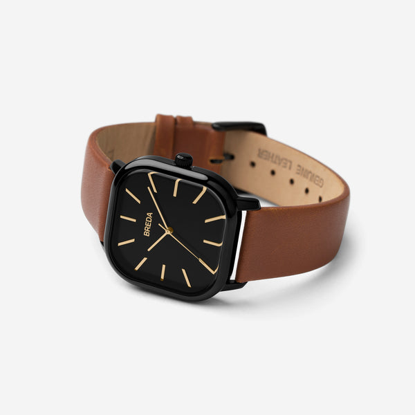 breda-visser-1728g-black-brown-leather-watch-angle