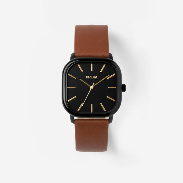breda-visser-1728g-black-brown-leather-watch-front