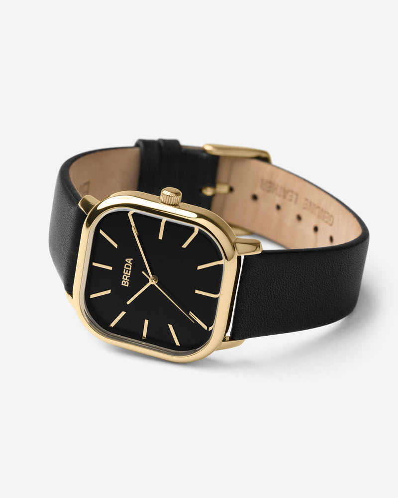 breda-visser-1728h-gold-black-leather-watch-angle