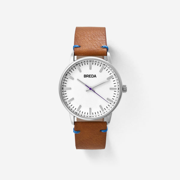 breda-zapf-1697c-silver-brown-watch-front