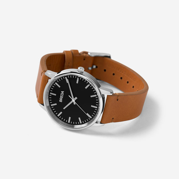 breda-zapf-1697j-silver-brown-leather-watch-angle