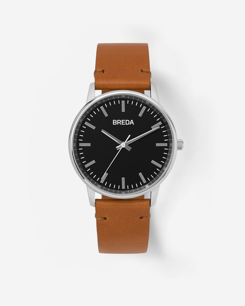 breda-zapf-1697j-silver-brown-leather-watch-front