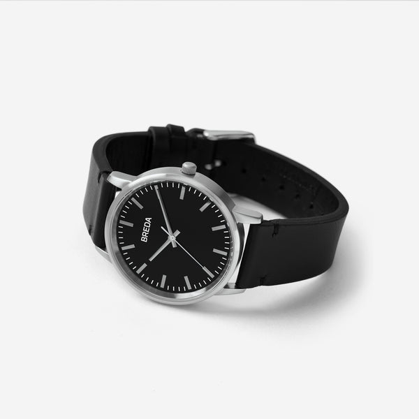 breda-zapf-1697k-silver-black-leather-watch-angle