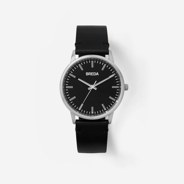 breda-zapf-1697k-silver-black-leather-watch-front